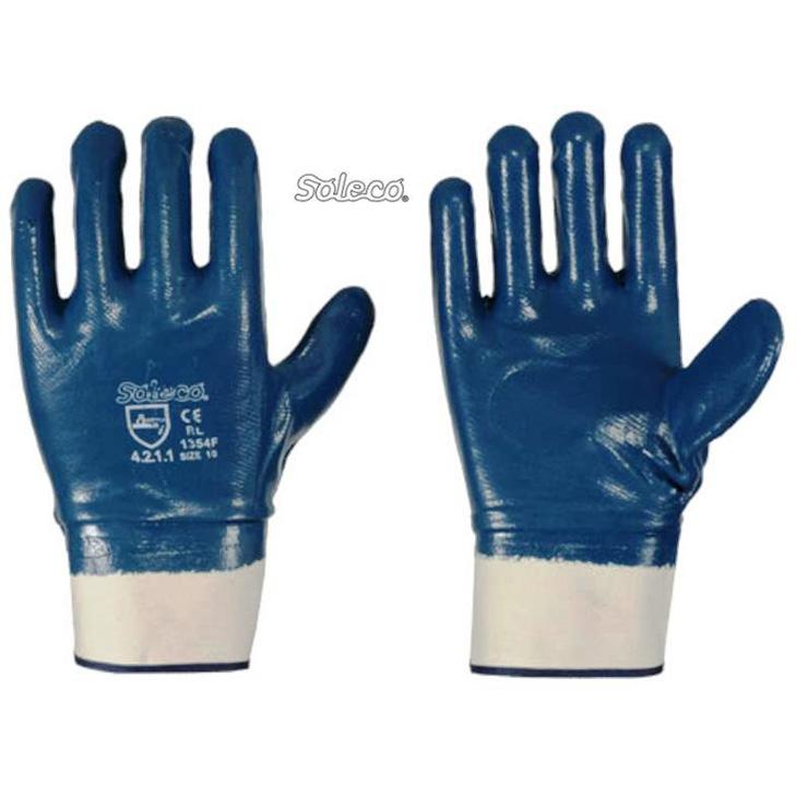 Bekleidung & Schutzausrüstung 8 Airsoft STRONGHAND Handschuh Portland Nitril Gr